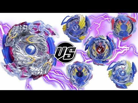 NIGHTMARE LONGINUS vs ALL VALKYRIE VALTRYEK | Beyblade Burst ベイブレードバースト