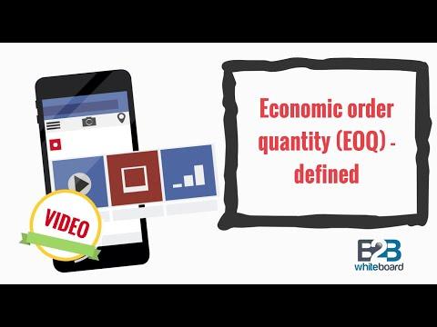 Economic order quantity (EOQ) - defined