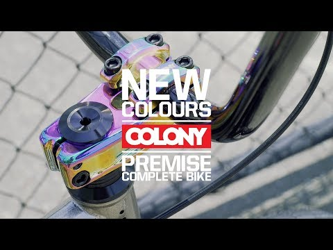Raw frames always look good and the Colony Premise complete bike is no exception! Laced with some poppin Rainbow parts this bike is hard to beat. More info ...