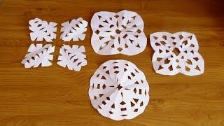 как сделать снежинку из бумаги своими руками видео