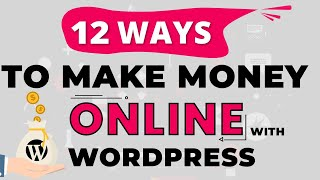 Now that you know how to build a wordpress website, might want make money with wordpress! in this video, ill go over 12 different ways on ...