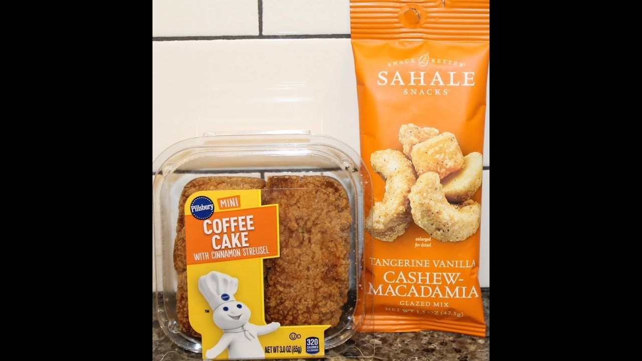 Pillsbury Mini Coffee Cake Sahale Snacks Tangerine Vanilla Cashew Macadamia Glazed Mix Review