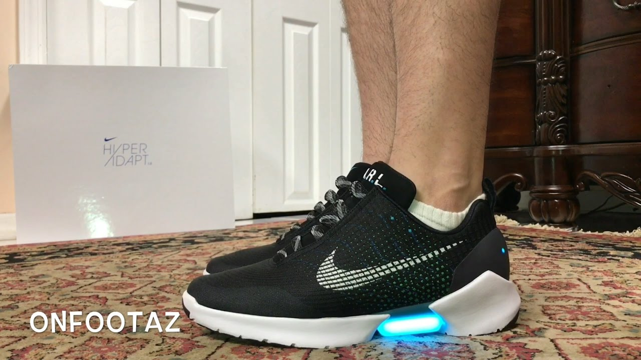 d8e2c4fb01f6f1 Nike HyperAdapt 1.0 Black On Foot - YouTube