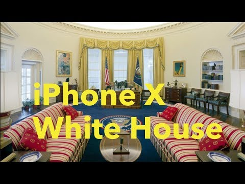 iPhone X at the White House OVAL OFFICE Video Camera 4k Test
