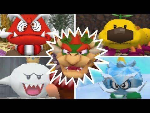 Super Mario 64 DS - All Bosses (No Damage)