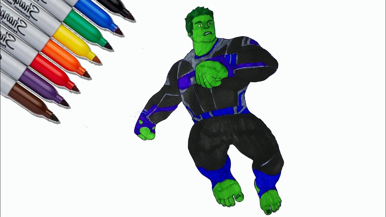 Hulk Endgame Coloring Pages The Avengers Endgame Coloring Pages Sailany Coloring Kids