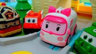 Робокар Поли и его друзья мультик из игрушек. Опасные игры. Спасение машинки. Видео для детей.