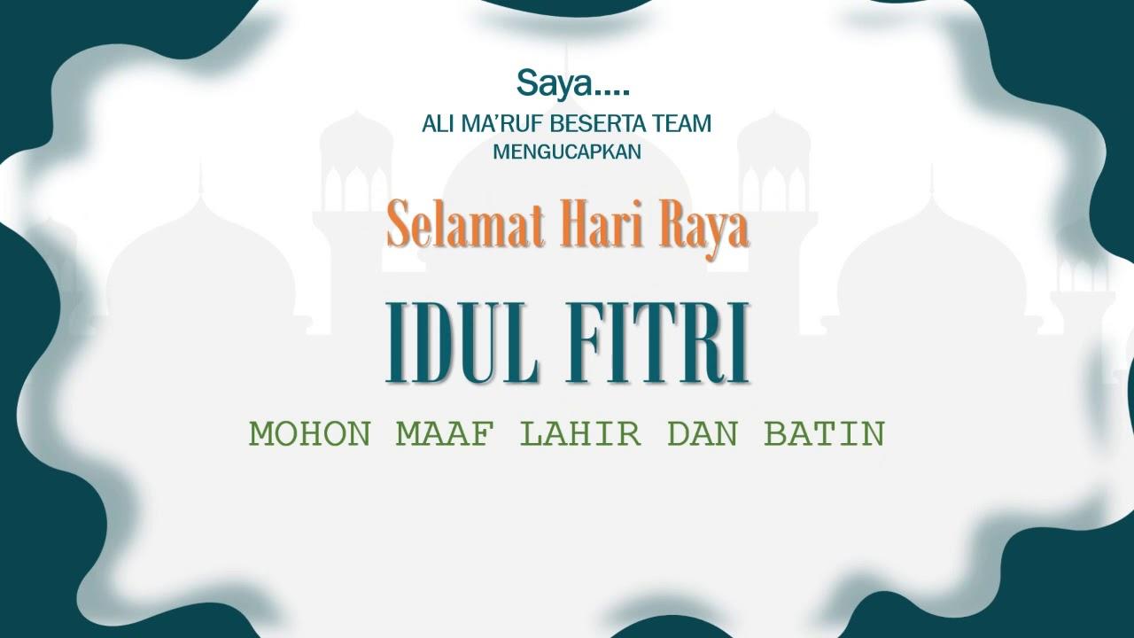 Selamat Hari Raya Idul Fitri 1441 H | Kekuatan pikiran