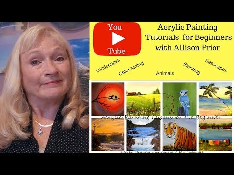 Acrylic Painting tutorials for Beginners PREVIEW, step by step easy lessons