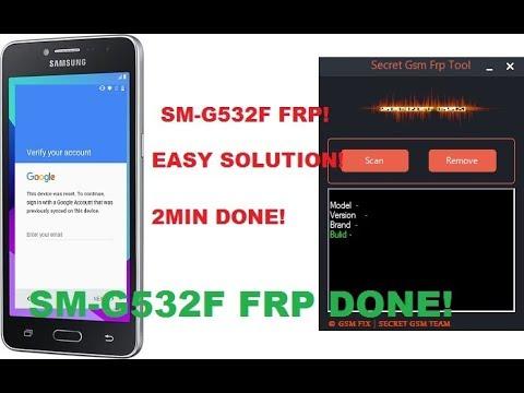 Samsung j2 prime SM G532F Frp Remove ADB with Secret Gsm Frp Remover New Tool 2017