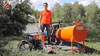 Щёточный нефтесборщик СОр(Щёточный олеофильный ручной скиммер разработки и производства