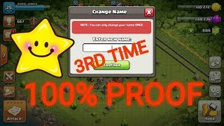 HOW TO CHANGE BASE NAME 3RD TIME IN CLASH OF CLANS WITH 100% PROOF