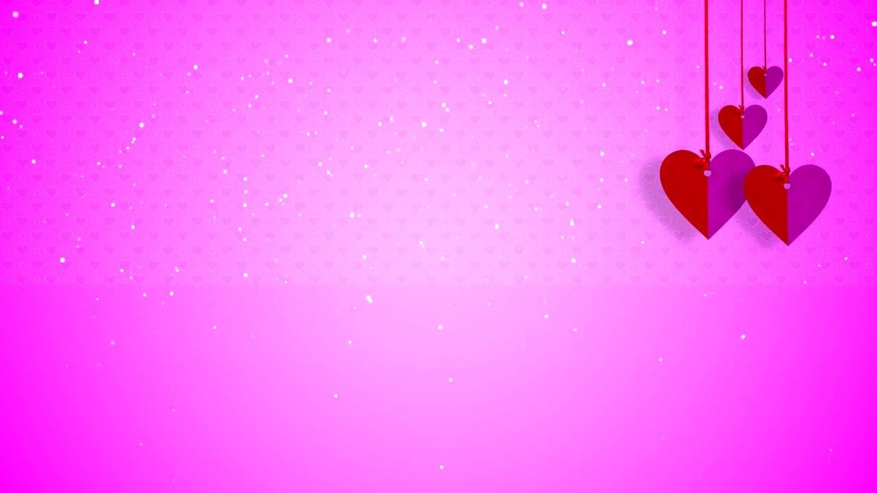 Videos De Amor: Motion Background Hearts