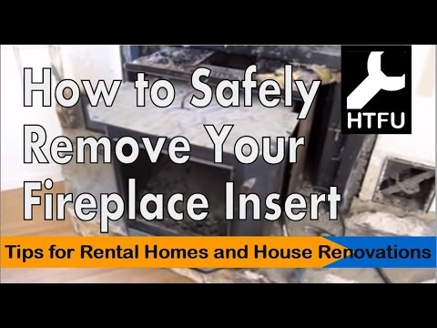 Fireplace Insert: How to Carefully Remove a Heavy Fireplace Insert from Your Fireplace(No Mess and Without Ash) http://youtu.be/nT6yS9HDv3M Fireplace inserts...