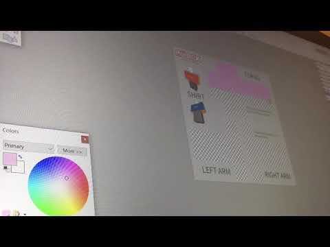 Making Roblox shirts-time lapse