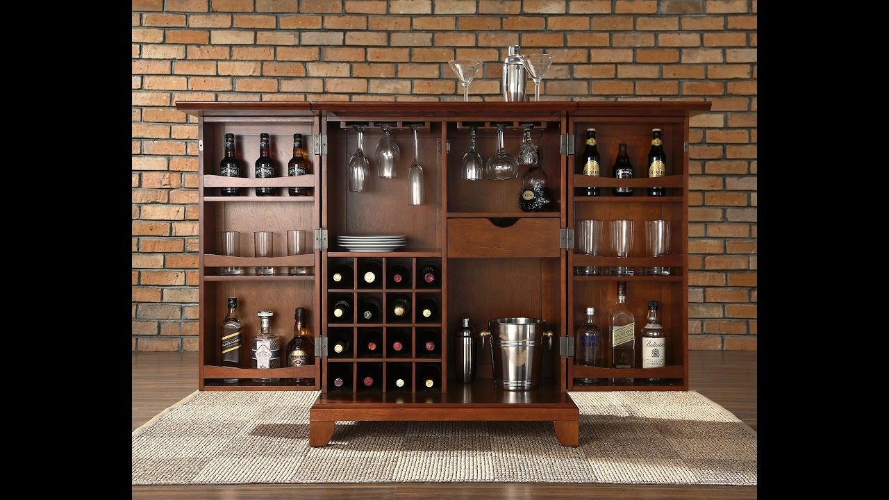 The Most Valuable Small Bar Cabinet Design For Best Home Bar - YouTube