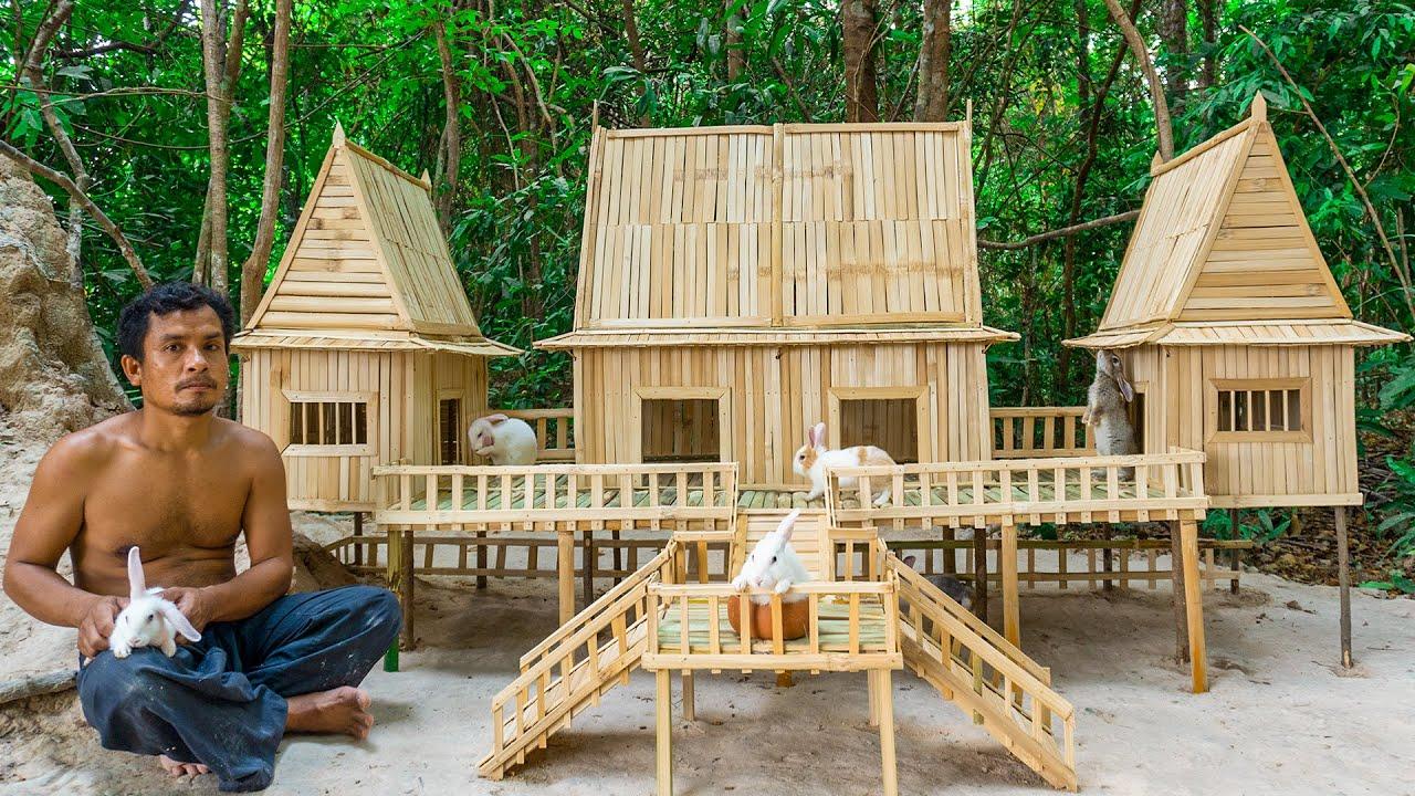 Rescue Rabbit Build The Most Beautiful Bamboo House Villa