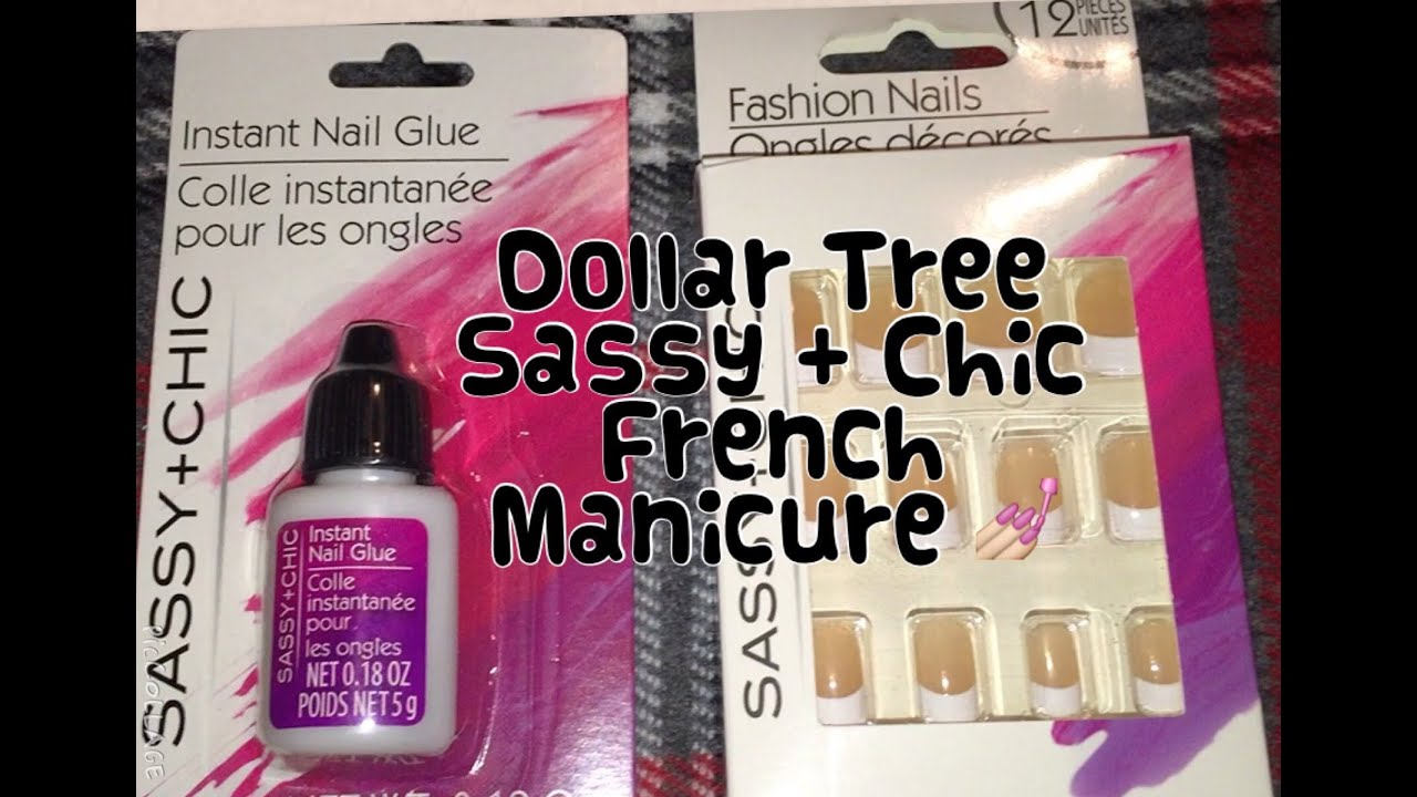 Dollar Tree Sassy + Chic Artificial Nails & Instant Glue Demo | The ...