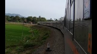 Geoffs Rail View Indonesia : Purwokerto to Kebumen 1 of 5 real time speed