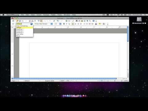 Free Mac Word Processor - OpenOffice