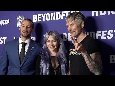 CM Punk, Elissa Dowling, Travis Stevens 2019 Beyond Fest 'Girl On The Third Floor' Premiere