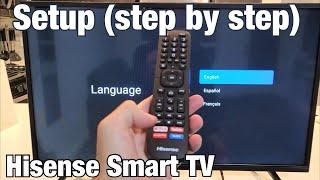 Hisense Smart TV: How to Setup (Step by Step from beginning) screenshot 4