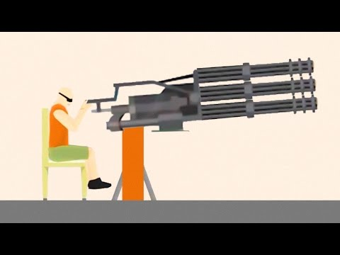 WORLD'S BIGGEST GUN EVER! (Happy Wheels #69)