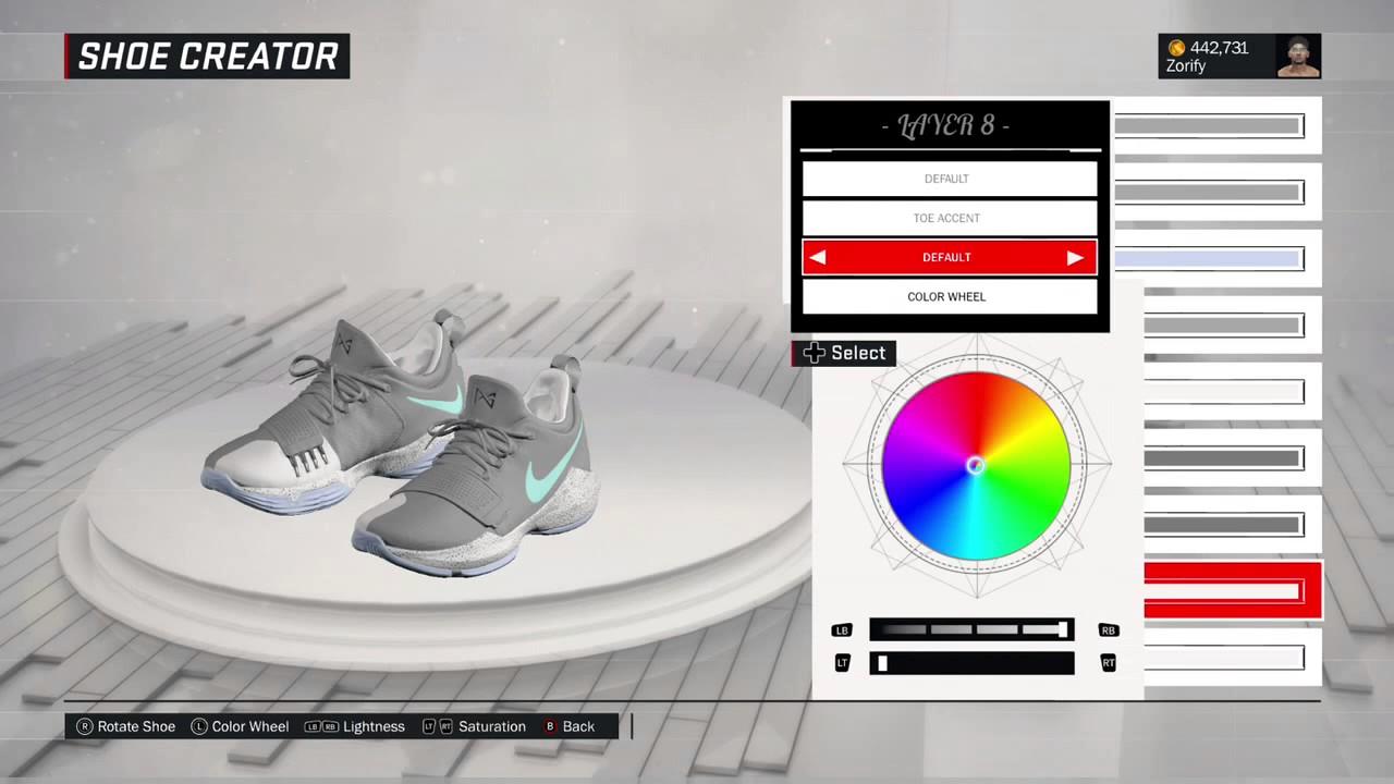 timeless design 50f54 1262a NBA 2K17 Shoe Creator - Nike PG 1
