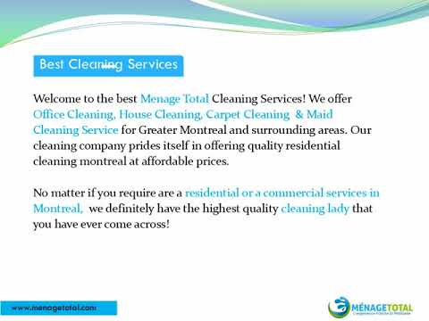 Best Cleaning Services in Montreal