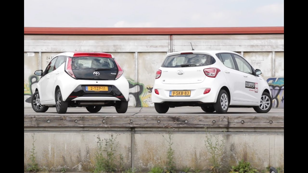 toyota aygo vs. hyundai i10 - youtube