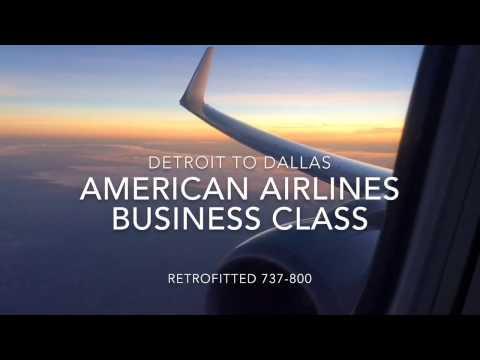 TRIP REPORT: American Airlines Business Class  737-800  Detroit - Dallas 
