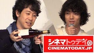 映画『ぶどうのなみだ』の初日舞台あいさつに主演の大泉 洋、安藤裕子、...