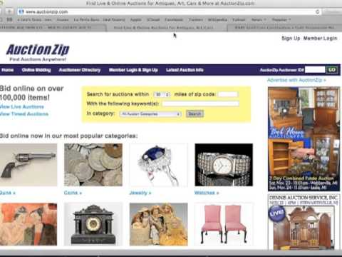How to Find Items at Auction Houses to Sell on eBay Part 1