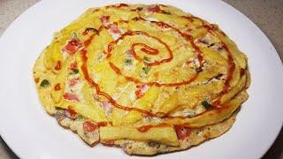 Potato omelette   Easy breakfast recipes   Kids tiffin recipes