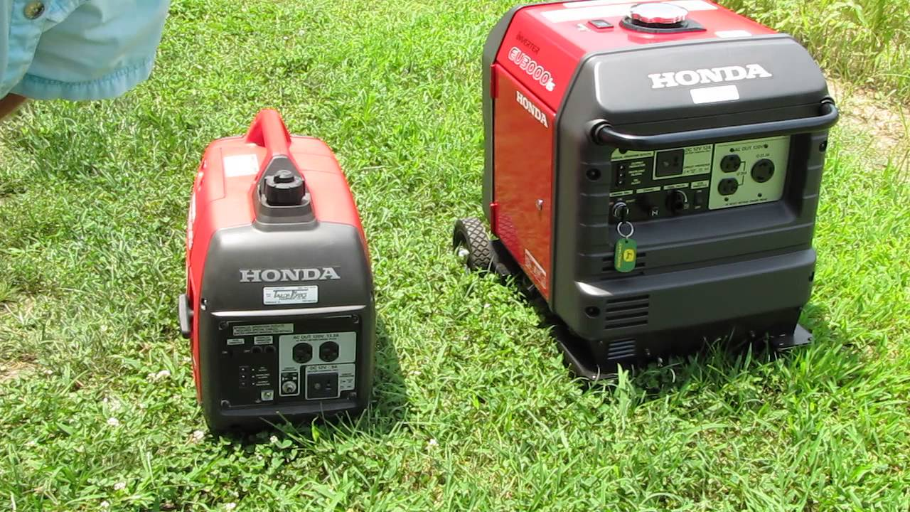 Nice Honda Generators EU 2000 Vs. EU 3000 ! Comparison Storm Prepping By KVUSMC    YouTube