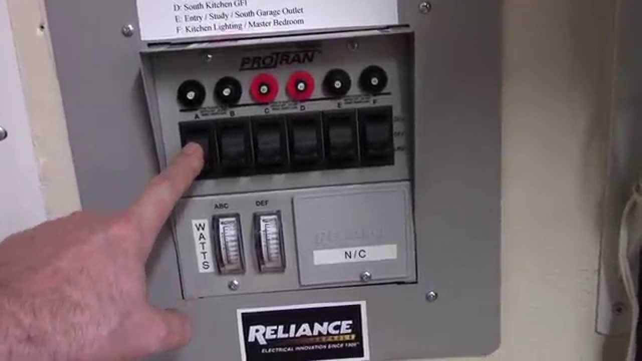 Solar Powered Home Reliance Controls Pro Tran 6 Circuit