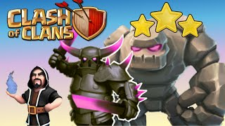 Clash of Clans: ATAQUE MEGA con ayuntamiento 9 🌟🌟🌟 Cómo atacar con GOLEMS, PEKKAS y MAGOS!
