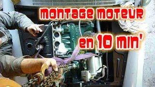 Montage du moteur dans la 404 en 10 minutes!
