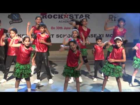 disco deewane student of the year dance performance -  by Rockstar Academy chandigarh India