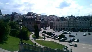 Widok na Plac Zamkowy w Lublinie .