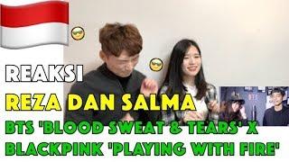 Gambar cover Reaksi BTS - Blood Sweat & Tears (피땀눈물) X BLACKPINK - Playing With Fire (불장난) MASHUP Orang korea
