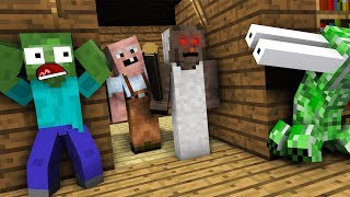 Monster School : ZOMBIE & CREEPER GRANNY CHAPTER TWO Horror Challenge - Minecraft Animation