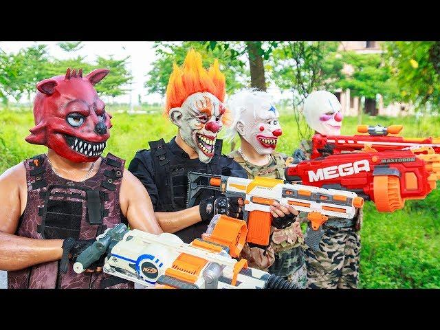 NERF WAR : Special Task SWAT Warriors Nerf Guns Fight Criminal Group Mask Bandits