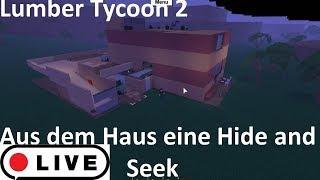 Haus zum Verstecken und Suchen Karte umbauen Lumber Tycoon 2 Roblox Live