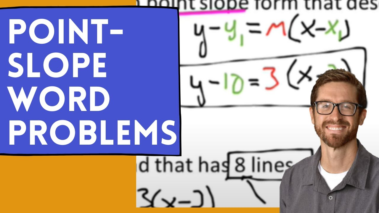 Point Slope Word Problems YouTube – Point Slope Form Worksheet