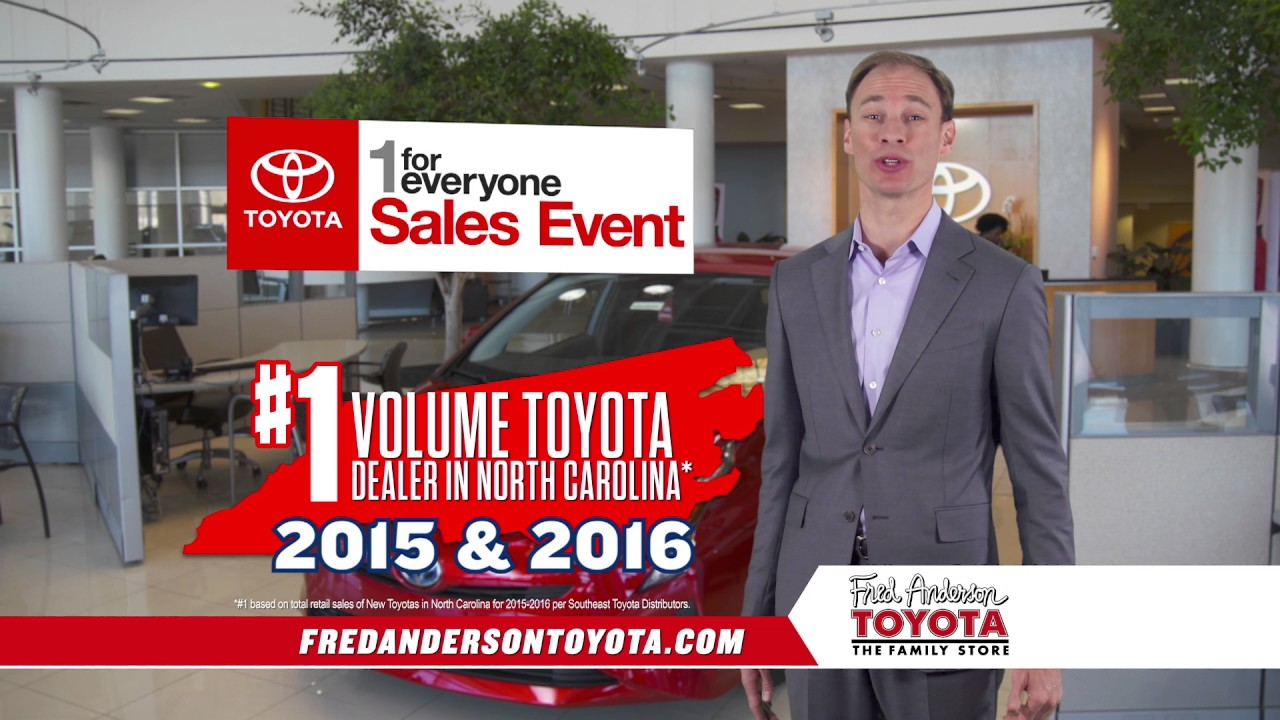 fred anderson toyota 1 for everyone camry specials youtube. Black Bedroom Furniture Sets. Home Design Ideas
