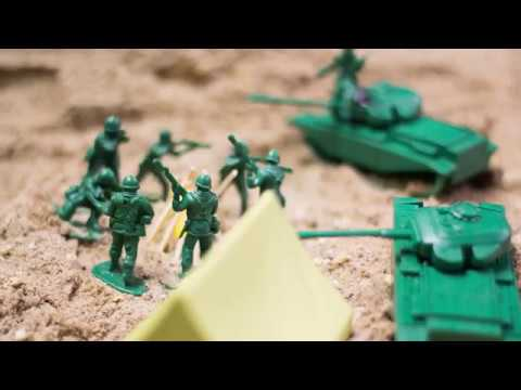 Toy Soldier stop motion film