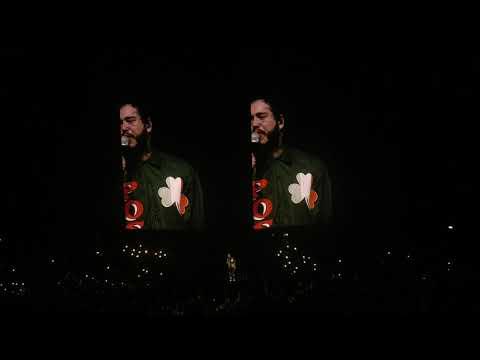 Post Malone inspiring speech in Dublin concert.