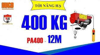 Tời điện mini HUGO Kensen PA400 400 200kg 12m 25m 30m