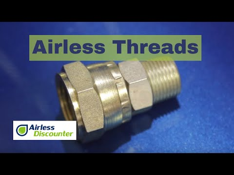 Connectors And Thread Sizes On An Airless Sprayer - Beginner Video